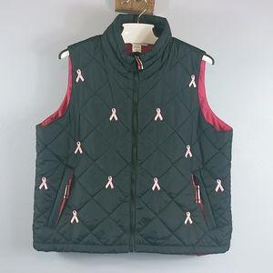 Coldwater Creek Breast cancer logo vest size L